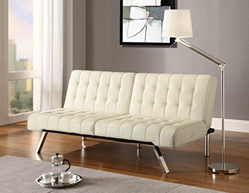 A Trusty Old Futon With The Style And Comforts Of Modern Living Room Furnishing Clad In Heavenly Vanilla It Can Readily Compliment Your Scandinavian
