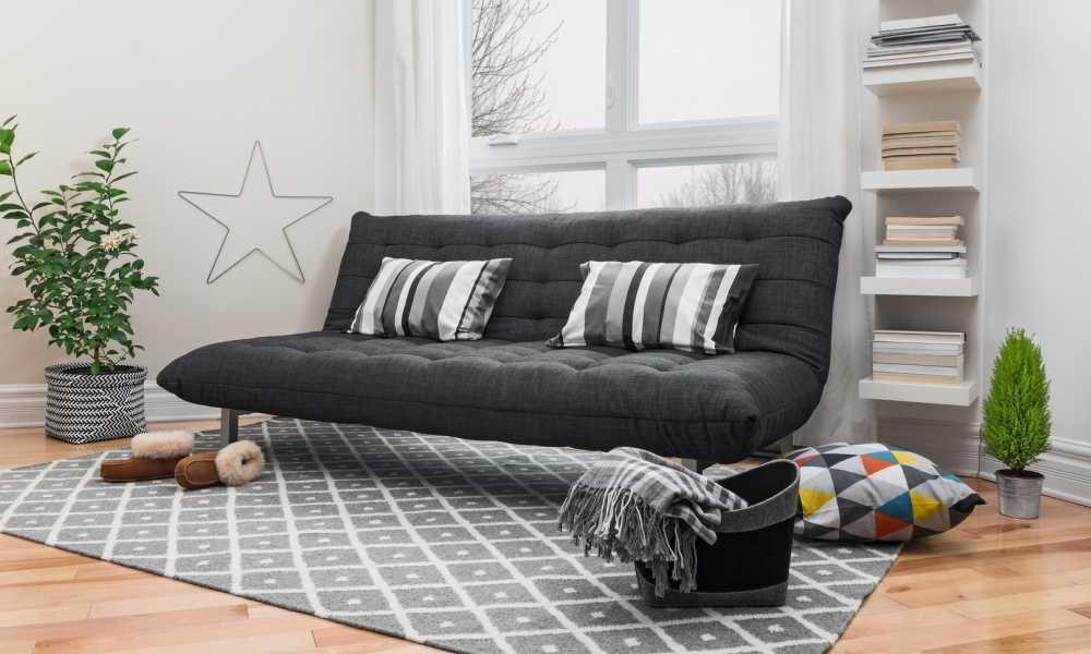 Fold Down Futon Lounge Convertible Sofa